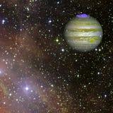 Jupiter in kosmische ruimte Elementen van dit die beeld door NASA wordt geleverd vector illustratie