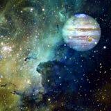 Jupiter in kosmische ruimte Elementen van dit die beeld door NASA wordt geleverd stock afbeeldingen