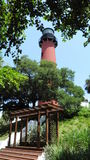 Jupiter Lighthouse. In Jupiter, Florida stock photography