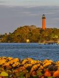 Jupiter Lighthouse in the Golden Morning Sunlight royalty free stock photos
