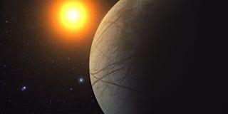 Jupiter Moon Europa Fotografie Stock