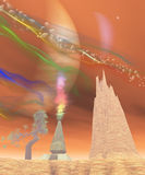 Jupiter Moon Io illustration stock