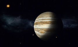 Jupiter with Moons Stock Photos