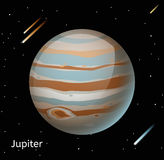 Jupiter planet 3d vector illustration Stock Photography