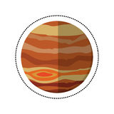 Jupiter planet space shadow Royalty Free Stock Photo