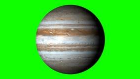 Jupiter Rotating en un fondo verde sólido Loopable libre illustration