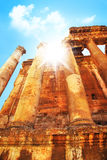 Jupiter's temple, Baalbek, Lebanon royalty free stock photo