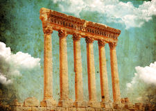 Jupiter's temple, Baalbek, Lebanon Stock Photography