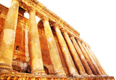 Jupiter's temple isolated, Baalbek, Lebanon Stock Photo
