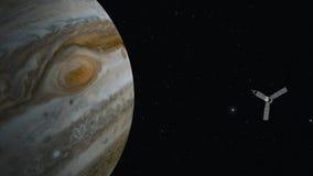 Jupiter and satellite juno Royalty Free Stock Image