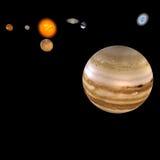 jupiter sol- system Arkivfoto