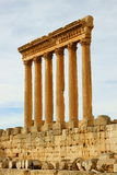 Jupiter Temple. Roman ruins of Baalbek Acropolis, Bekaa Valley, Lebanon Royalty Free Stock Photography