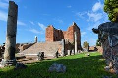 Jupiter Temple em Ostia Antica, Itália Fotos de Stock