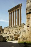 Jupiter temple at Heliopolis. Baalbek, Lebanon Stock Images