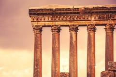 Jupiter's temple of Baalbek, Lebanon Stock Photo