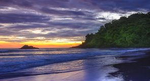 Juquehy Beach on the coast of the state of Sao Paulo , Brazil Stock Photography