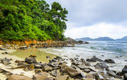 Juquei beach .Coastline of  Sao Paulo state, Brazil. Stock Photography