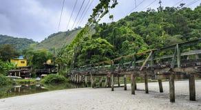 Juquei , SP , Brazil. Old bridge in a condition unfit for use. Juquei , SP , Brazil Stock Images
