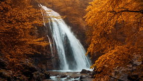Jur-Jur waterfall. In the autumn forest