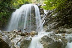 Jur-Jur waterfall in Crimea Royalty Free Stock Photo