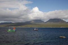 Jura from Islay at Bunnahabhain Royalty Free Stock Image