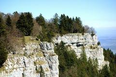 Jura Mountain Cliffs Switzerland Royaltyfri Fotografi