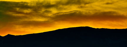 Jura Mountain Range. Jura Mountain silhouetted at sunset Stock Image