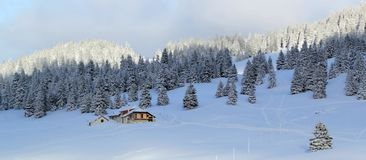Jura mountain in winter, Switzerland Stock Photography