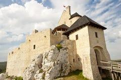 Jura region - Bobolice castle. Jura region view on Bobolice castle - Polnad, Silesia stock image