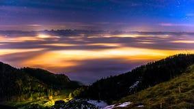 Jura und Alpen Stockfotografie
