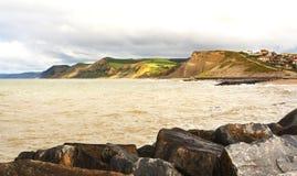 Jurakust Dorset stock foto
