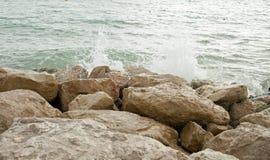 Jurakust van Bouremouth, Dorset Stock Foto