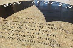 """Juramento de los boy scout, """"moral derecho"""" Fotografía de archivo libre de regalías"""