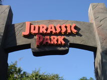 jurassic πάρκο εισόδων στοκ εικόνες