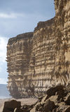 Jurassic Cliffs At Burton Bradstock Royalty Free Stock Photography