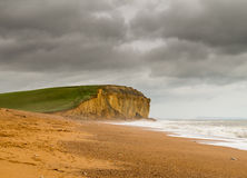 Jurassic Cliffs at West Bay Dorset in UK Royalty Free Stock Image