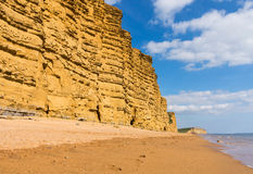 Jurassic Cliffs at West Bay Dorset in UK Stock Images