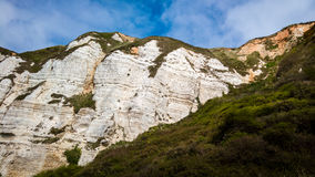 Jurassic Coast in Devon, UK. The jurassic coast between the villages of Beer and Branscombe. Devon, England royalty free stock images