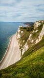 Jurassic Coast in Devon, UK. The jurassic coast between the villages of Beer and Branscombe. Devon, England stock photography