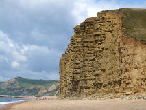 Jurassic Coast, Dorset. A section of coastal cliffs on the famous Jurassic coast in Dorset, England (near Burton Bradstock), a place famous for fossil Royalty Free Stock Photo
