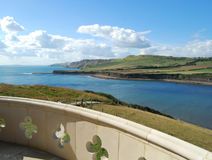 Jurassic coast Dorset. Dorset coastline from Clavell Tower Kimmeridge Dorset Stock Photo