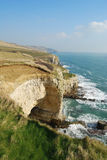 Jurassic coast Dorset. Dorset coastline from Dorset Coastal Path, Worth Matrvers Royalty Free Stock Photo