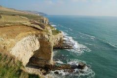 Jurassic coast Dorset. Dorset coastline from Dorset Coastal Path, Worth Matrvers Royalty Free Stock Image