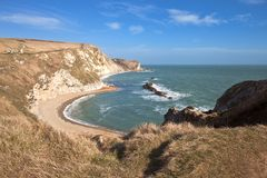 Jurassic coast in Dorset England Royalty Free Stock Images