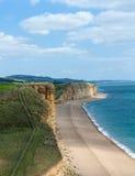 Dorset beach UK burton bradstock Royalty Free Stock Photos