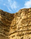 Dorset UK sandstone cliff Royalty Free Stock Images