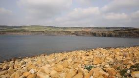 Jurassic coast Kimmeridge Bay east of Lulworth Cove and near Kimmeridge village on the Dorset coast England uk stock footage