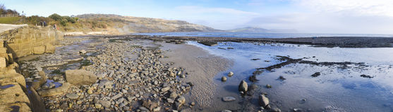 Jurassic coast panorama lyme regis dorset uk Royalty Free Stock Images
