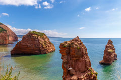 Jurassic Coast in summer Royalty Free Stock Photos