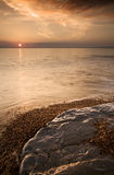 Jurassic Coast Sunset Royalty Free Stock Image